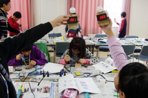 知的好奇心を育む科学体験教室「ものづくり講座~自作デジタル百葉箱で自然を測ろう~」