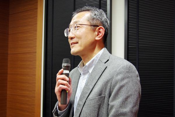 日本物理学会・東北支部長の須藤彰三先生(東北大学教授)による中締の挨拶。