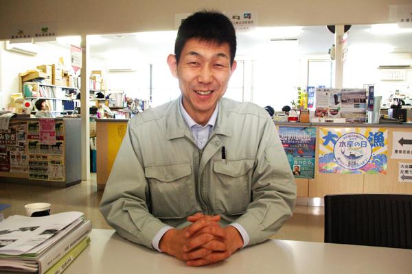 図 1 南三陸町ネイチャーセンター準備室の太齋彰浩さん