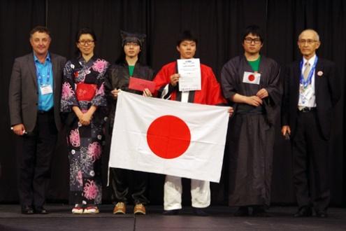 iCAN'15世界大会で世界第1位を受賞=米国アラスカ州アンカレッジ、6月22日