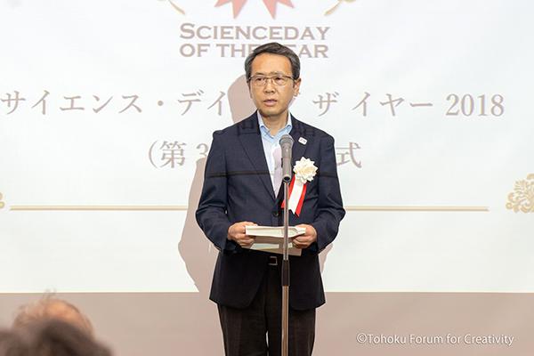 【来賓ご祝辞】勝野頼彦様(文部科学省 科学技術・学術総括官)
